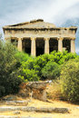Old agora in Athens Stock Images