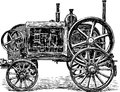 Old agricultural machine vector image of a vintage Royalty Free Stock Images