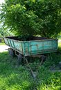 stock image of  An old agricultural trailer