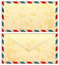 Old airmail envelope Stock Images