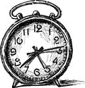 Old alarm clock vector image of the vintage Royalty Free Stock Photos