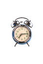Old Alarm clock on white background Royalty Free Stock Photo