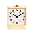 Old alarm clock on a white background Royalty Free Stock Photo