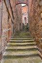 Old alley in the village Anghiari, Arezzo, Tuscany, Italy