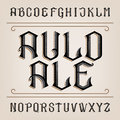 Old alphabet vector font. Distressed hand drawn letters.