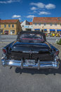 Old amcar buick riviera r super door convertible the photo is shot at the fish market in halden norway Stock Image