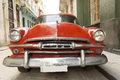 Old american car on beautiful street of Havana, Cuba Royalty Free Stock Photo