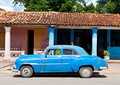 Old american car in Cuba Royalty Free Stock Photo