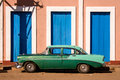 Old American car, Cuba Royalty Free Stock Photo