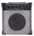 Old amp small dusty for guitar and bass guitar isolated over white Royalty Free Stock Photo