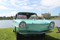Old amphicar at the car show premier in lakeland florida Royalty Free Stock Images