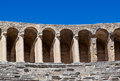 Old amphitheater aspendos in antalya turkey archaeology background Stock Image