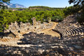 Old amphitheater Phaselis in Antalya, Turkey Royalty Free Stock Image