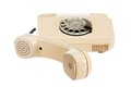 Old analog phone with a disk Royalty Free Stock Photo