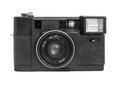 Old analog rangefinder camera on film mm format isolated on a white background original Stock Photos