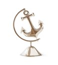 Old anchor globe d illustrations on a white background Royalty Free Stock Photography