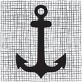 Old anchor silhouette vector illustration of the Royalty Free Stock Photo