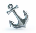 Old anchor on a white background Stock Photography