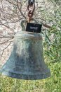 Old ancient big bell in Bodrum Castle Royalty Free Stock Photo