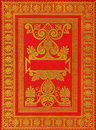 Old ancient red book cover Royalty Free Stock Images