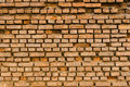 Old Ancient Vintage Grunge Dusty Orange Brick Wall With Some Cra Royalty Free Stock Photo