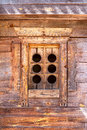 Old Ancient Wooden Carved Window