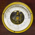 Old aneroid barometer Royalty Free Stock Photo