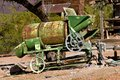 Antiquated portable cement mixer Royalty Free Stock Photo