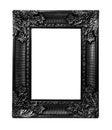 Old antique black frame isolated on white background Royalty Free Stock Photo