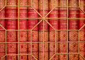 Old Antique Books Behind Grating Royalty Free Stock Photo