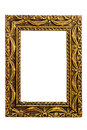 Old antique gold frame isolated on white background Royalty Free Stock Photos