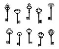 Old antique keys Royalty Free Stock Images