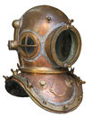 Old antique metal scuba helmet Royalty Free Stock Photo