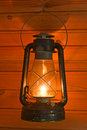 Old antique oil lantern Royalty Free Stock Images