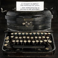 Old antique typewriter with text Royalty Free Stock Photo