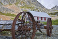 Old Antique Wagon and Bunkhouse Royalty Free Stock Photo
