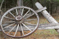 Old Antique Wagon Wheel Royalty Free Stock Photo