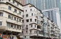 Old apartment blocks in Hong Kong Royalty Free Stock Image