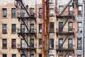 Old Apartment Buildings in New York City Royalty Free Stock Photo