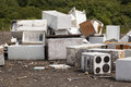 Old appliances landfill site Royalty Free Stock Images