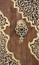 Old Arabesque Door, Lebanon Royalty Free Stock Photos