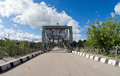 Old arched metal bridge Royalty Free Stock Images