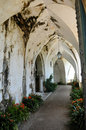 Old arched walkway Stock Photography