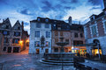 Old architecture of Auxerre Royalty Free Stock Photo