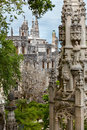 Old architecture in europe quinta da regaleira palace in sintr sintra lisbon portugal Royalty Free Stock Photo