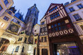 Old architecture of Rouen Royalty Free Stock Photo