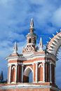 Old architecture of tsaritsyno park in moscow february russia winter a popular touristic landmark Stock Photo