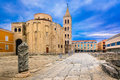 Old architecture in Zadar town, Croatia. Royalty Free Stock Photo