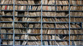 Old archive shelves full of files in a messy fashioned Royalty Free Stock Images