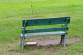 Old arm chair in the park Royalty Free Stock Photo